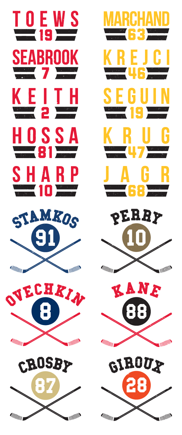 Collection of NHLPA Type Tees Designed for 500 Level