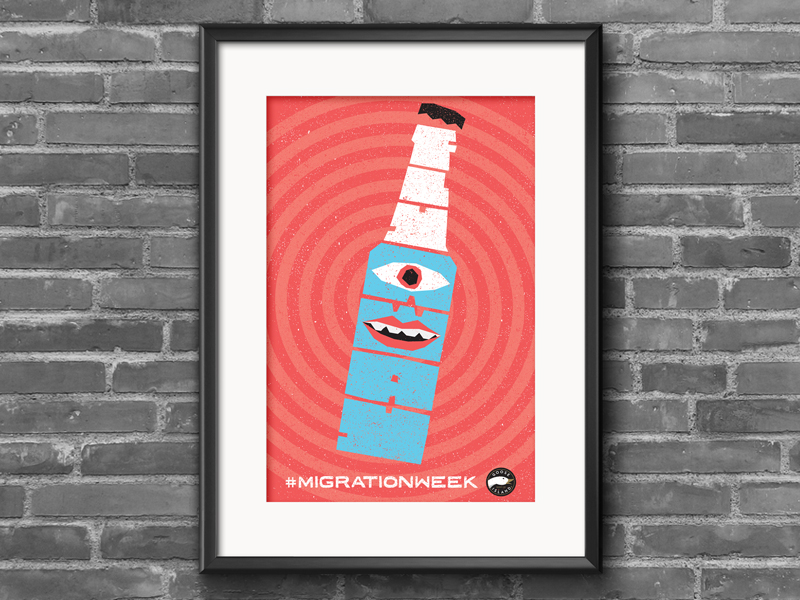 Fly Away - Goose Island Beer Co Poster by lunchboxbrain